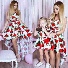Watermelon Fruit Mommy and Me Matching Outfit