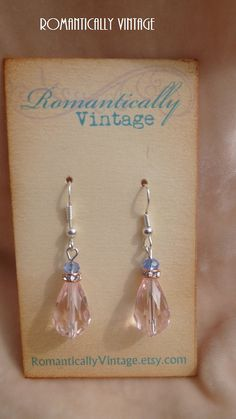 Lavender Sweet Earrings Beaded Boutique by RomanticallyVintage, $11.50