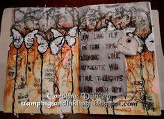 art journal page by Caroline Duncan - stampingsandinklings.blogspot.com - Inspiration Wednesday 2015, Donna Downey