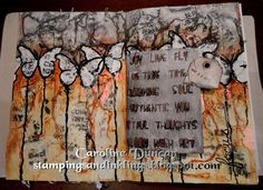 art journal page by Caroline Duncan - stampingsandinklings.blogspot.com - Inspiration Wednesday 2015, Donna Downey