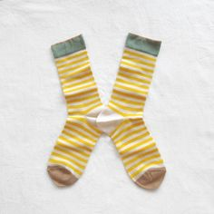 Chaussettes Bonne Maison / Bonne Maison socks - Rayures Mimosa