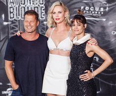 Til Schweiger, Charlize Theron & Sofia Boutella @ Atomic Blonde Premiere