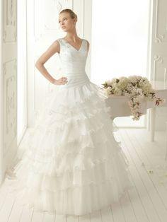 A LINE WEDDING DRESS (like the shape of the top)
