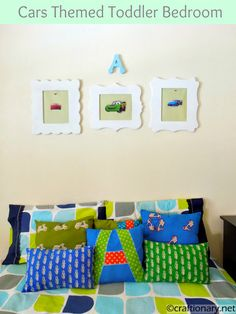 cars themed boys room frames
