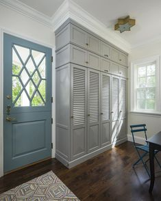 Floor to Ceiling Mudroom Built-ins