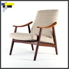 Retro Vintage Teak Danish Modern Design Easy Lounge Chair Armchair 1960s 70s | eBay