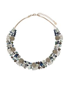 Accessorize Gift guide: Our statement Beth necklace is lavishly embellished with scores of faceted glass beads, jewels and crystal gem-encrusted flowers. Adjust the length to flatter your neckline. Matching items available.