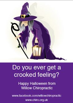 Do you ever get a crooked feeling?  Happy Halloween from Willow Chiropractic