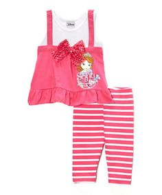 Loving this Pink Sofia the First Tunic & Leggings - Toddler on #zulily! #zulilyfinds