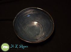 Medium Blue Lizella Stoneware Bowl Army by TazChessieArtwork