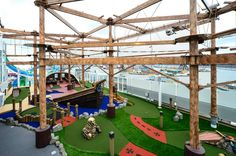 Kids Aqua Park. Experience the pirate adventure on Deck 17! #UltimateGetaway