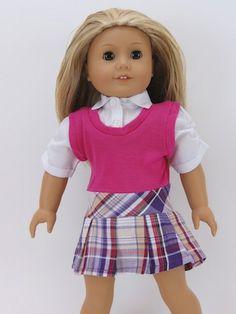 Trendy Dolls - Preppy Dress for 18 inch Dolls like American Girl Dolls, $13.50 (http://www.mytrendydoll.com/doll-clothes/preppy-dress-for-18-inch-dolls-like-american-girl-dolls/)