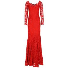 Balensi Long Dress ($2,150) ❤ liked on Polyvore featuring dresses, copper, v-neck dresses, long v neck dress, long dresses, long sleeve dress and long red dress