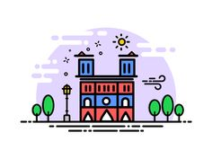 Notre-Dame de Paris designed by Vijayakumar Ramalingam. Connect with them on Dribbble; the global community for designers and creative professionals. Line Design, Icon Design, Web Design, Cute Little Drawings, City Icon, Paris Design, Sewing Art, My Secret Garden, Instagram Highlight Icons