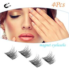 Magnetic Eyelashes [No Glue] Premium Magnet Quality False Eyelashes Set for Natural Look Perfect For Round Eyes and Deep Set Eyes 1 pair 4 pcs -- Continue to the product at the image link. (This is an affiliate link) #MagneticEyelashesIdeas