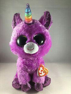 All Beanie Boos, Beanie Boo Dogs, Ty Stuffed Animals, Plush Animals, Ty Beanie Boos Collection, Ty Peluche, Ty Toys, Purple Unicorn, Lol Dolls