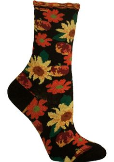 The Joy of Socks - Black Petunia Pomme Soleil Socks (Women's), $12.00 (http://www.joyofsocks.com/black-petunia-pomme-soleil-socks-womens/)