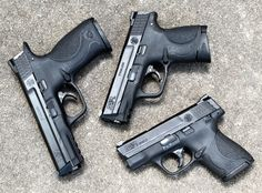 Smith and Wesson M and P 9mm siblings...my 3 favorites. Yes I have all 3. What of it?