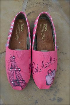 Paris Theme Custom TOMS Shoes  ADULT by ArtisticSoles on Etsy, $125.00