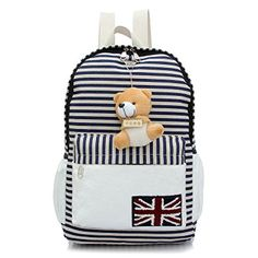 Coofit® Lovely British College Style Girl's Leisure Stripe Canvas Backpack School Bag (Blue Stripe) null http://www.amazon.com/dp/B00MM2KLSA/ref=cm_sw_r_pi_dp_r1HCwb14YT8D8