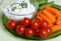 Kefir Ranch Dip with plate of raw vegetables Kefir Recipes, Dip Recipes, Light Recipes, Appetizer Recipes, Real Food Recipes, Appetizers, Ranch Dip, Probiotic Foods, Fermented Foods