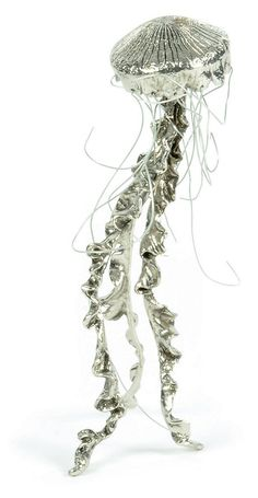"""9"""" Jellyfish Figurine, Silver 