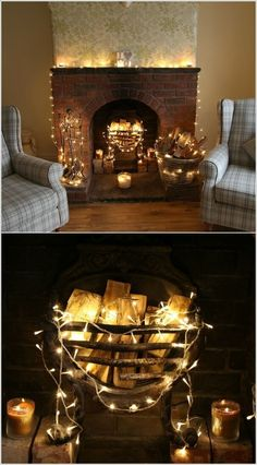 56 Ideas for living room cosy warm fairy lights