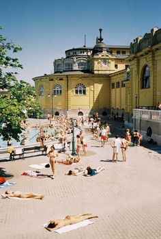 enjoyed many a weekends and days off here...  Szechenyi baths. Budapest