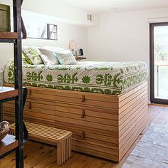 Genius Ikea hack: Create a bed out of cabinets