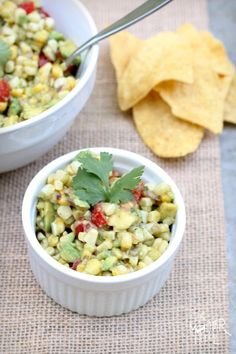 Roasted Sweet Corn Guacamole {Perfect Summer Appetizer}