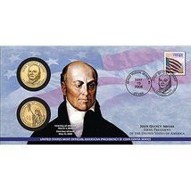 2008 Presidential $1 One Dollar Coin John Quincy Adams First Strike First Day Cover (P26)