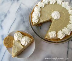 This is one of my favorite pies: Banana Cream Pie with Golden Oreo Crust. The creamy banana filling pairs wonderfully with the spice of the Golden Oreos!