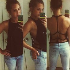 DIY cut up t-shirt