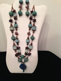 Two Pair of Earrings Accompany This by JewelryWorksbyCarol on Etsy, $60.00