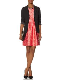 Lace Print Fit & Flare Dress   Women's Dresses   THE LIMITED