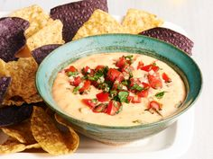 Double-Chile Queso Dip recipe from Food Network Kitchen via Food Network