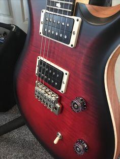 PRS CE24 in superb limited edition satin Scarlet Sunburst. Great guitar! #prsguitars