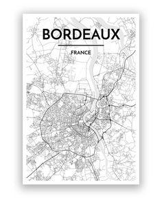 plan Bordeaux centre Bordeaux Pinterest Centre