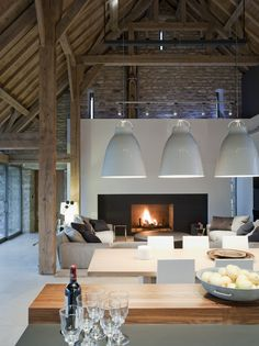 Beautifully restaured barn in Stow-on-the-Wold by McLean Quinlan Architects