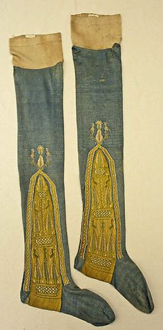 Stockings, early 19th century, French, silk. In The Metropolitan Museum of Art collection.