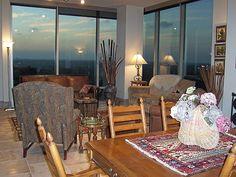 7 Riverway Houston condo living room.