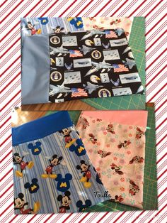 Pillowcases, Air Force, Minnie Mouse and Mickey Mouse!