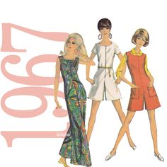 60s Jumpsuit Vintage Sewing Pattern Simplicity 7000 on Etsy