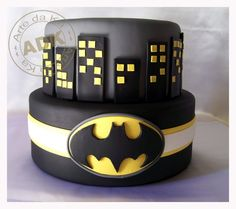 Batman Cake... Maybe put Batman Lego pieces on top? Braydon's 5th birthday.