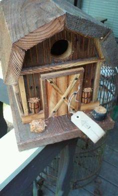 Rustic Barn Birdhouse by TheBirdhouseShop on Etsy