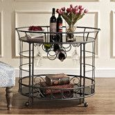 "Found it at Wayfair - Naples Serving Cart  Overall: 30.13"" H x 31.88"" W x 17.25"" D $226.99"