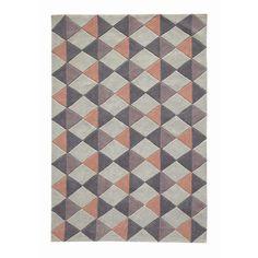 Kurzflorteppich NORDIC ROSE aus Stoff mit Motiven, 160 x 230cm