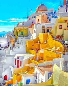 Have a nice weekend☺️💙 Santorini, Greece Oia Santorini, Santorini Island, Santorini Travel, Greece Travel, Mykonos, Beautiful Places To Visit, Wonderful Places, Places To Travel, Travel Destinations