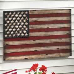 American Flag Wall Art from Through the Country Door® I LOVE Americana Decor. American Flag Wall Art, American Decor, American Crafts, Metal Flag, Wood Flag, Painting Carpet, Artwork For Living Room, Patriotic Decorations, Metal Wall Art