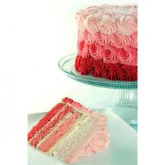 Custom Cakes : Edgar's Bakery this icing design on their strawberry cake makes for a perfect strawberry shortcake party!